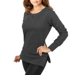 Urban Classics - TB784 Ladies Side Zip Long Crewneck -...