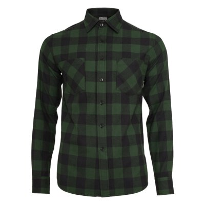 Urban Classics - TB297 Checked Shirt - forest/black