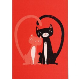 Postkarte - Lagom Design - Cat Love