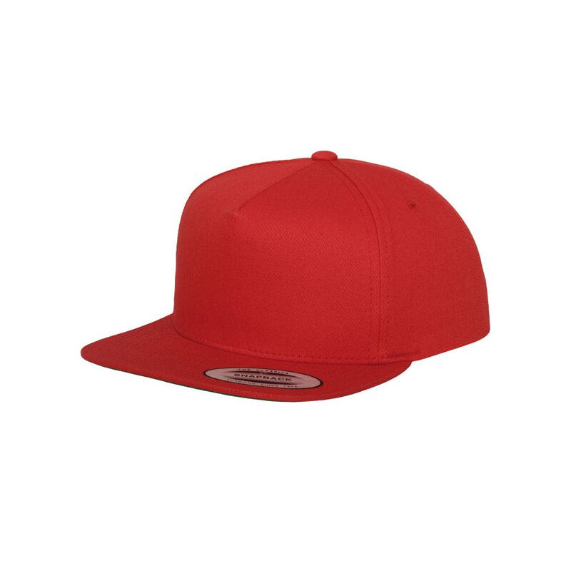 Flexfit -  Classic 5 Panel Snapback - red