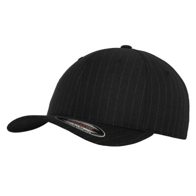 Flexfit - Pinstripe Baseball Cap - black/white - SM