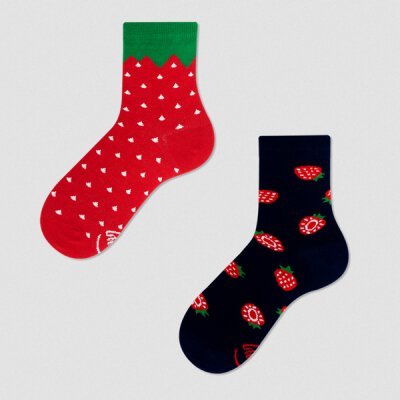 Many Mornings Socks - Strawberries - Kids Socken