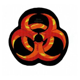 Biohazard - Logo rund (rot) - Patch