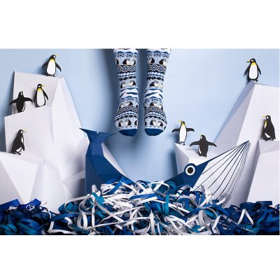 Many Mornings Socks - Ice Pinguin - Winter-Socken