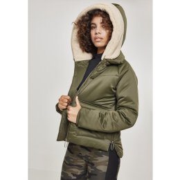 Urban Classics - TB2380 - Ladies Sherpa Hooded Jacket -...