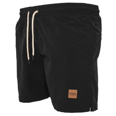 Urban Classics - TB1026 - Block Swim Short - black/black