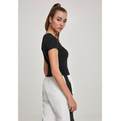 Urban Classics - TB2754 - Ladies Stretch Jesey Dropped Tee - black