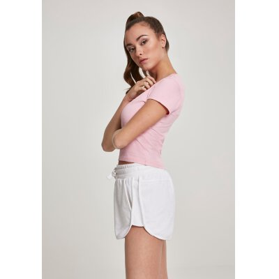 Urban Classics - TB2754 - Ladies Stretch Jesey Dropped Tee - barbie pink