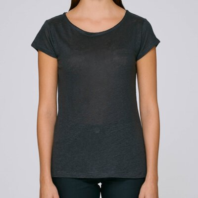 Stanley / Stella - Stella Glows Linen Women Shirt (STTW431) - stretch limo (black) - Größe M