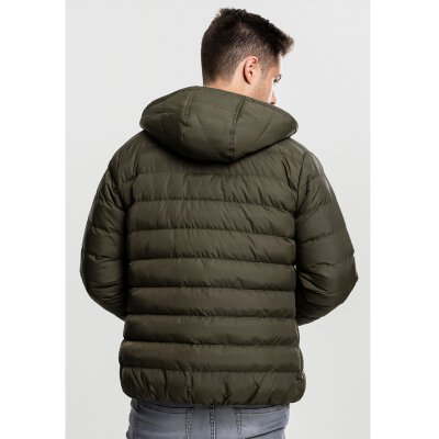 Urban Classics - TB863 - Basic Bubble Jacket - dark olive/black/dark olive