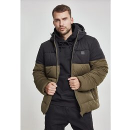 Urban Classics - TB2425 - Hooded 2-Tone Puffer Jacket -...