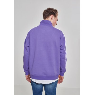 Urban Classics - TB2399 - Oversize Sweat Shoulder Stripe Troyer - ultraviolet/white