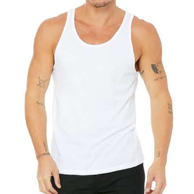 Bella + Canvas - 3480 Unisex Jersey Tank Top - white