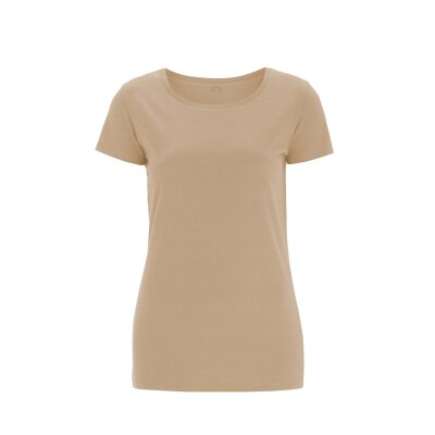 Continental - N09 Womens Regular Fit Round Neck T-Shirt - camel