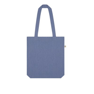 Continental/ Salvage - SA60 ? RECYCLED SHOPPER TOTE BAG - melange light denim
