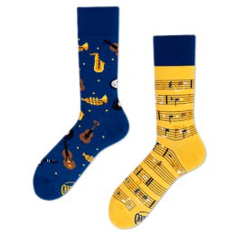 Many Mornings Socks - Music Notes - Socken