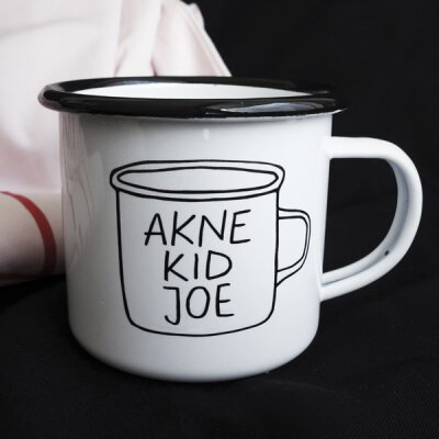 Akne Kid Joe - To Go - Emaille Tasse