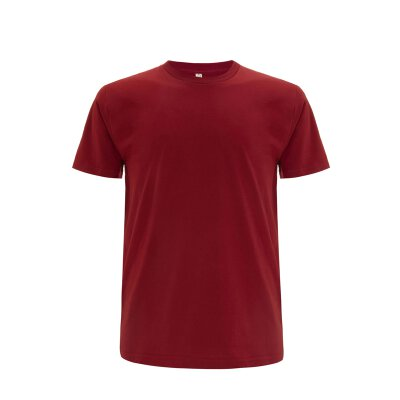 Continental/ Earthpositive - EP01 - ORGANIC MENS/UNISEX T-SHIRT - dark red