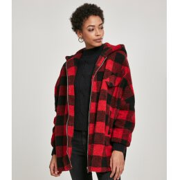 Urban Classics - TB3056 Ladies Hooded Oversized Check...