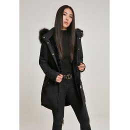 Urban Classics - TB3053 - Ladies Faux Fur Parka - black