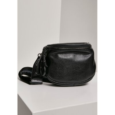 Urban Classics - TB2938 - Imitation Leather Crossover Bag - black