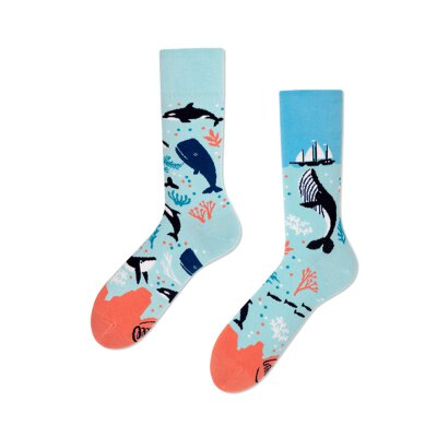 Many Mornings Socks - Ocean Life - Socken