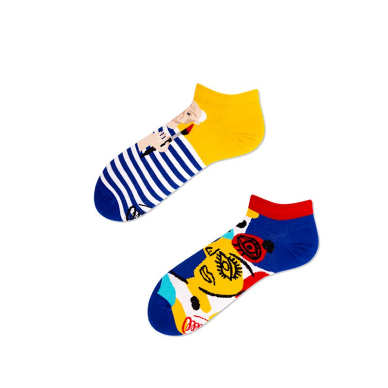 Many Mornings Socks - Picassosocks Low - Socken