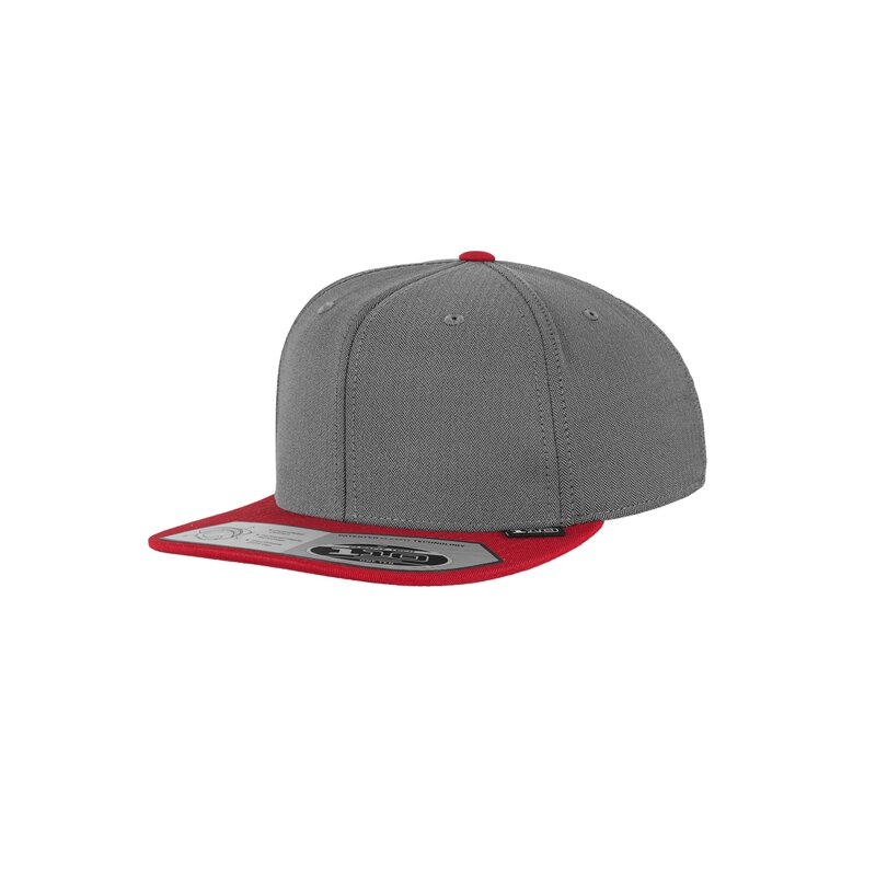 Flexfit - 110 Fitted Snapback Heringbone - grey/red