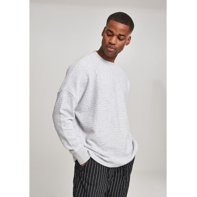 Urban Classics - TB3092 - Cut On Sleeve Naps Interlock Crew - lightgrey