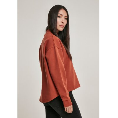 Urban Classics - TB3012 - Ladies Oversized High Neck Crew - rust