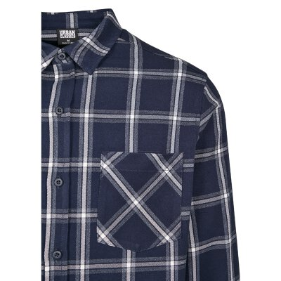Urban Classics - TB3132 - Basic Check Shirt - navy/white