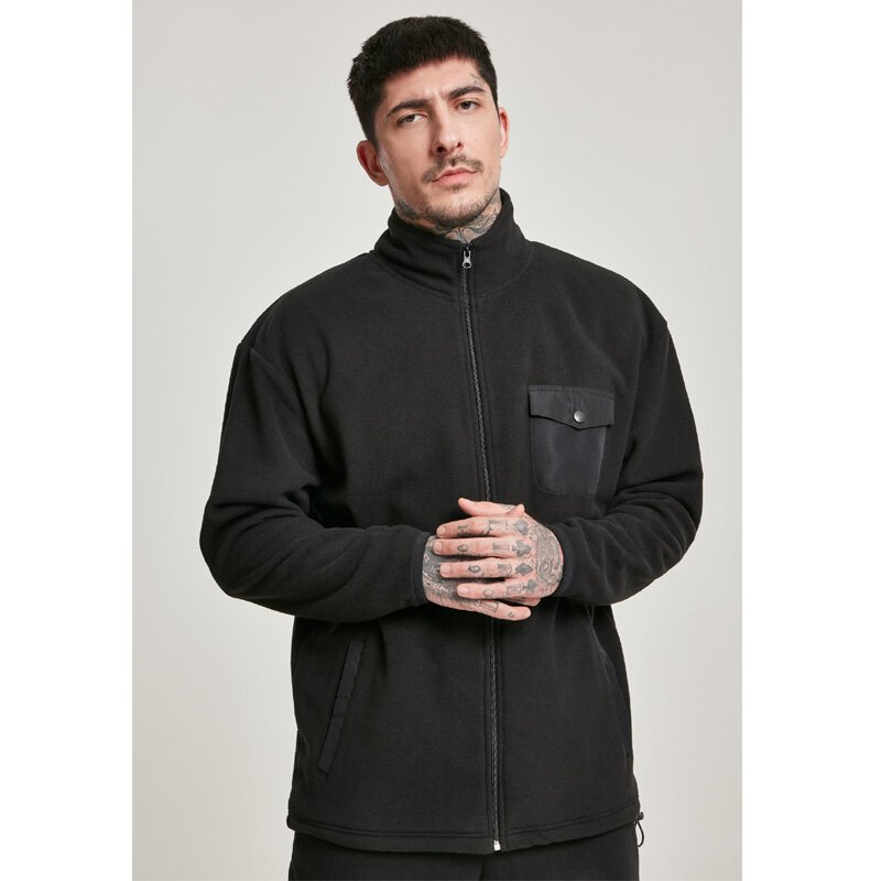Urban Classics - TB3119 - Polar fleece Track Jacket - black