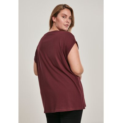 Urban Classics - TB771 - Ladies Extended Shoulder Tee - redwine