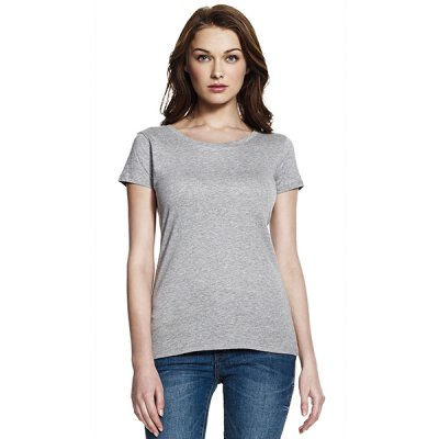 Continental - N09 - Womens Regular Fit Rounded Neck T-Shirt - charcoal grey