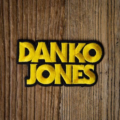 Danko Jones - Logo - Aufnäher zum Bügeln (iron on patch) - black/gold