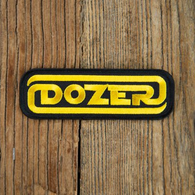Dozer - Logo - Aufnäher zum Bügeln (iron on patch) - black/gold