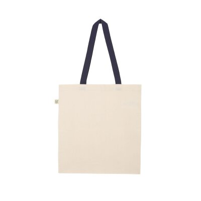 Continental/ Earth Positive - EP71 - Organic Shopper Tote Bag - navy/leaf handles