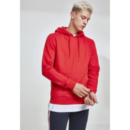 Urban Classics - TB1592 Basic Sweat Hoody - fire red