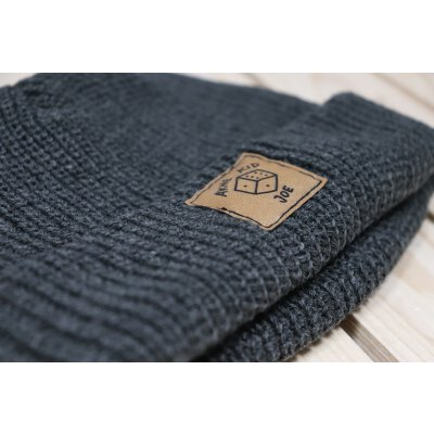Akne Kid Joe - Würfel - Fisher Beanie (105472) - heather charcoal (dunkelgrau)