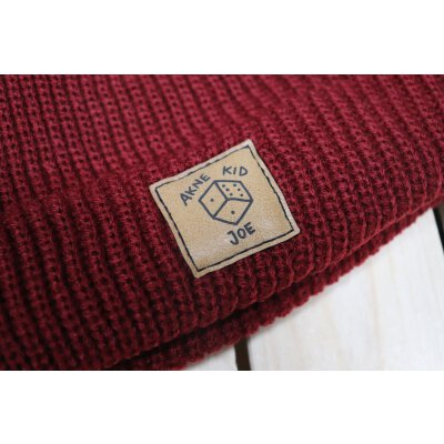 Akne Kid Joe - Würfel - Fisher Beanie (105472) - maroon (weinrot)