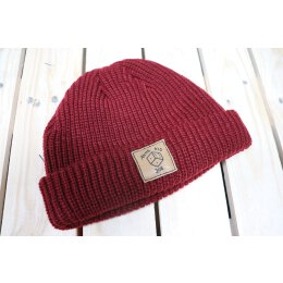 Akne Kid Joe - Würfel - Fisher Beanie (105472) - maroon...