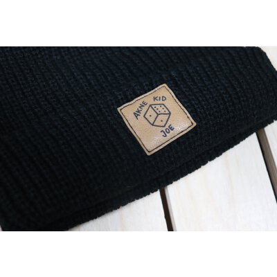 Akne Kid Joe - Würfel - Fisher Beanie (105472) - black (schwarz)