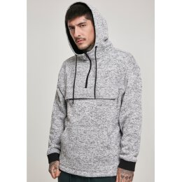Urban Classics - TB3114 Knit Fleece Pull Over Hoodie - grey