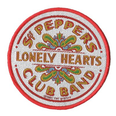 Beatles, The - Sgt Peppers Lonely Hearts Club - Patch (weiß rot)