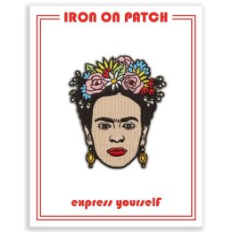 Frida - Artista Mexicana Flower Crown - Iron On Patch...