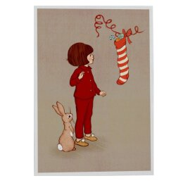 Postkarte - Belle & Boo - Christmas Stocking