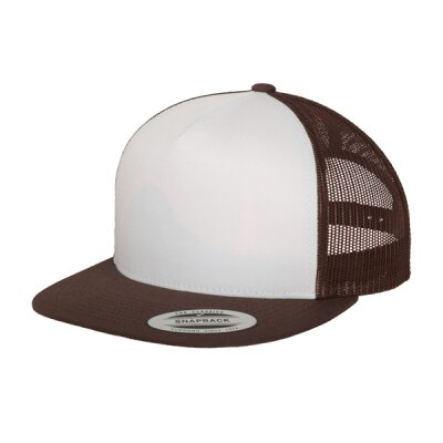 Flexfit - Classic Trucker Cap (6006W) - brown/white/brown