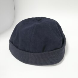 Basic Twill Docker Cap - navy