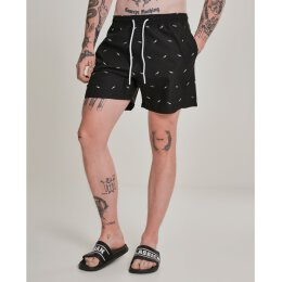 Urban Classics - TB2680 Embroidery Swim Short - black shark