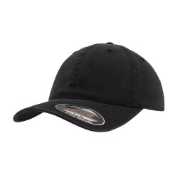 Flexfit - 6997 Garment Washed Cotton Dad Hat - Black